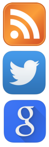 RSS Twitter Google Now icons