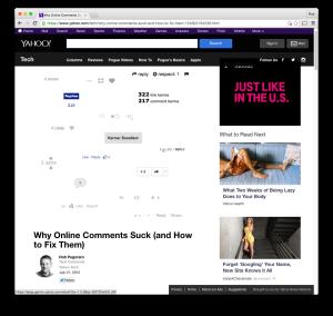 Yahoo Tech online-communities post