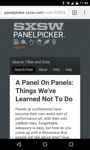 SXSW panel on panels
