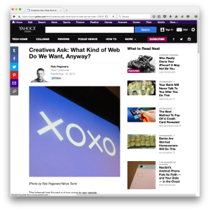 Yahoo Tech XOXO post