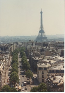 Eiffel Tower in 1991