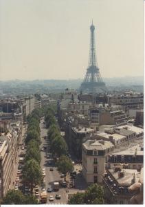 Eiffel Tower in 1991