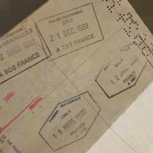 France passport stamps