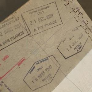 France passport stamps
