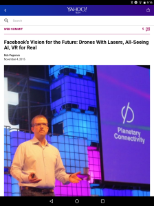 Yahoo Tech Facebook Web Summit talk post