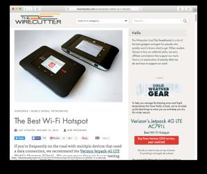 Wirecutter LTE hotspot guide