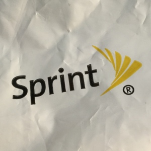 Sprint logo from phone-recycling bag