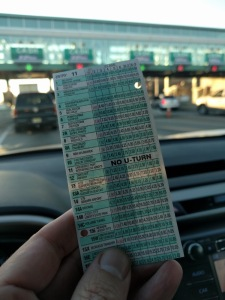 NJTP ticket at toll plaza