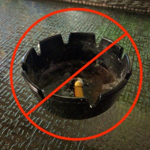 Ashtray forbidden
