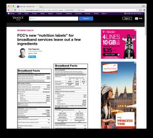 Yahoo Tech FCC broadband-labels post