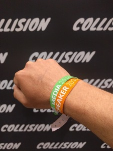 Collision wristbands