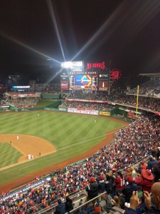 Nats Park scoreboard after Max Scherzer's record-tying 20th strikeout.