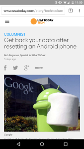 USAT Android-backup post