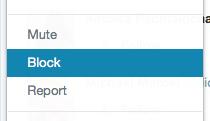 Twitter block button