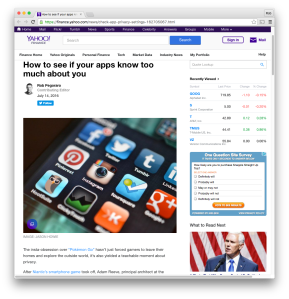 Yahoo Finance social-media privacy post