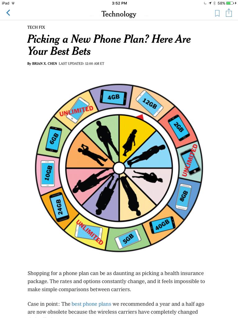 Screenshot of story from NYT iPad app