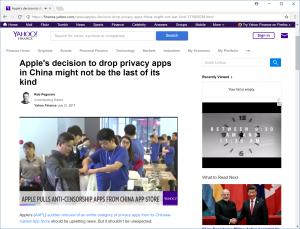 Yahoo iOS VPN apps post