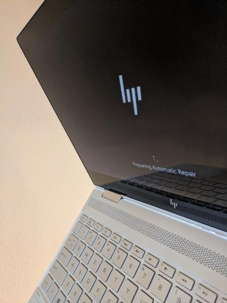 HP laptop stuck on repair