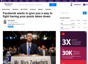 Yahoo Facebook-appeals post