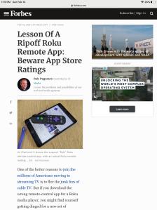 Screenshot of this post as seen on an iPad mini.