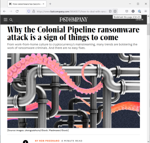 Screengrab of ransomware post