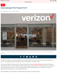 Screenshot of the story as seen on an iPad mini's copy of Safari