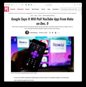 Screenshot of the story as seen in Safari for macOS